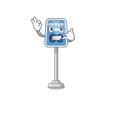 Call me speed limit cartoon toys on table vector illustration