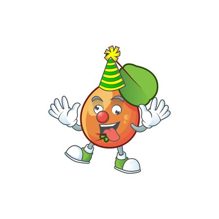 Clown shipova fruit cartoon on white background vector illustration Çizim