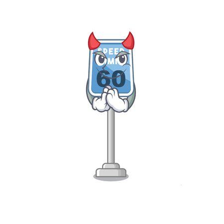 Devil speed limit isolated in the mascot vector illustration Ilustração