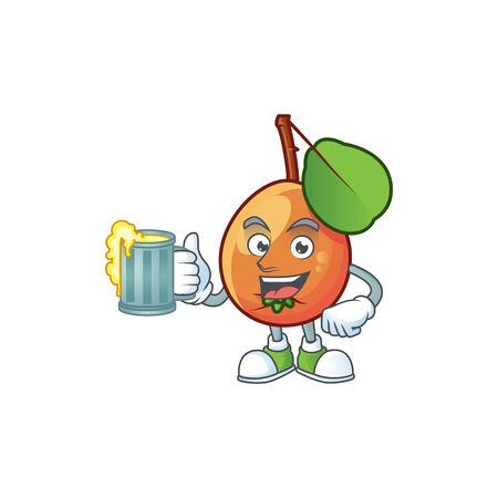 With juice ripe shipova cartoon character mascot shape