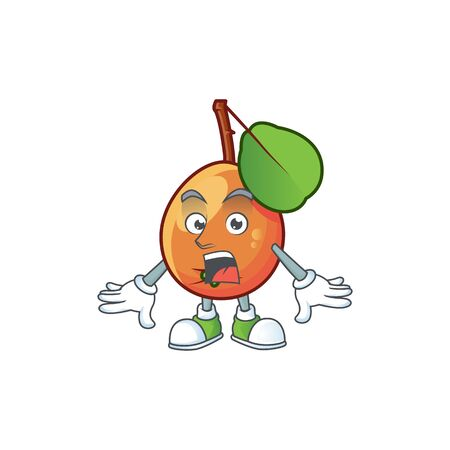 Surprised ripe shipova cartoon character mascot shape