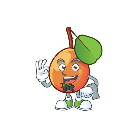 Waiter ripe shipova cartoon character mascot shape