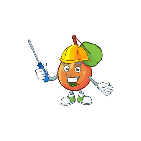 Automotive shipova fruit cartoon on white background Çizim