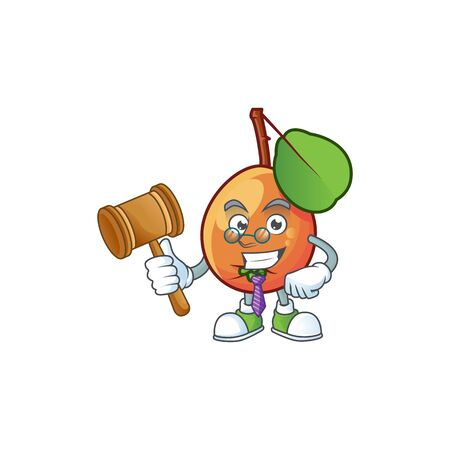 Judge shipova fruit cartoon on white background