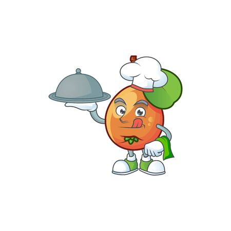 Chef with food ripe shipova cartoon character mascot shape