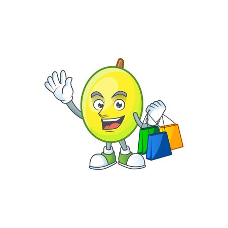Shopping fresh gomortega cartoon on white background