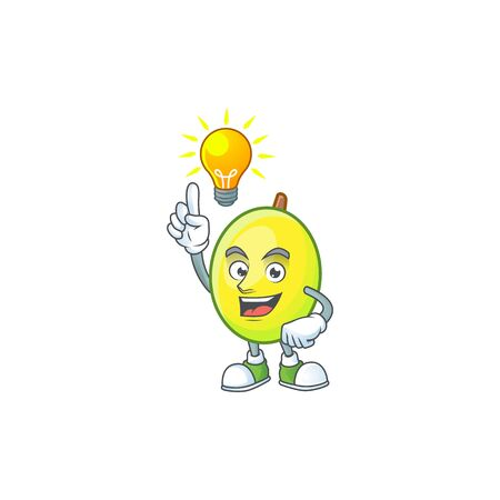 Have an idea gomortega fruit cartoon character mascot style.