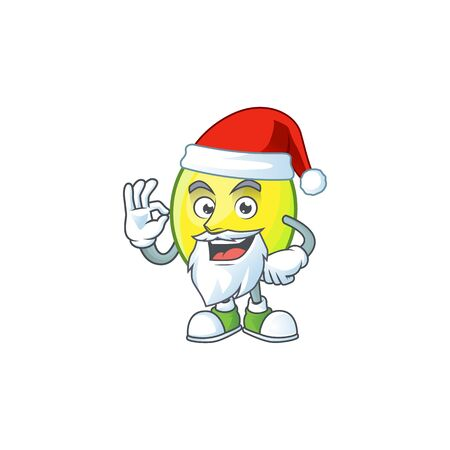 Santa gomortega fruit cartoon character mascot style.