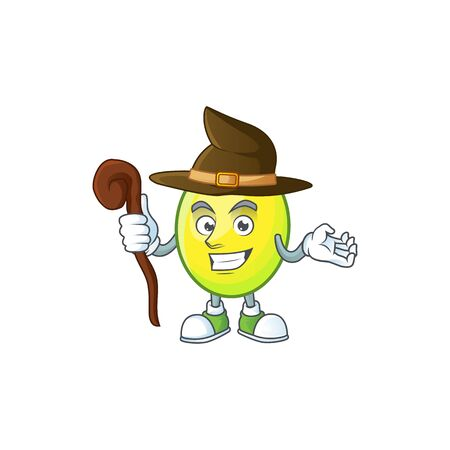 Witch gomotega fruit healthy in cartoon mascot