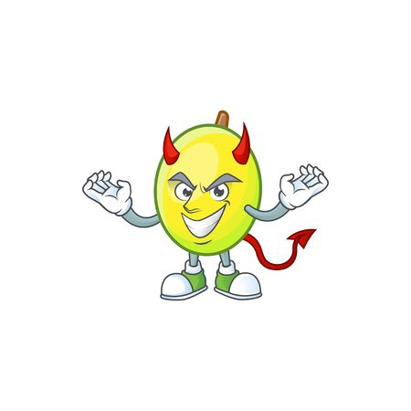 Devil gomotega fruit healthy in cartoon mascot
