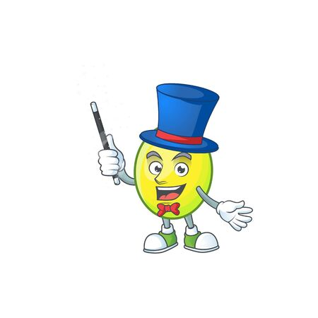 Magician gomortega fruit cartoon character mascot style.  イラスト・ベクター素材