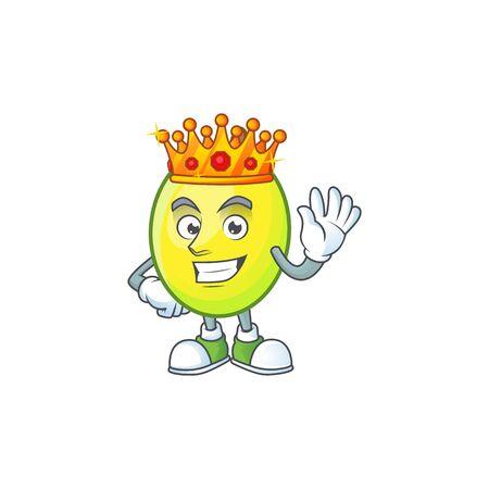 King gomortega fruit cartoon character mascot style.  イラスト・ベクター素材