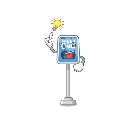 Have an idea speed limit cartoon toys on table vector illustration Illustration