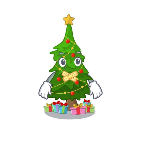 Silent christmas tree toy shaped a character vector illustration