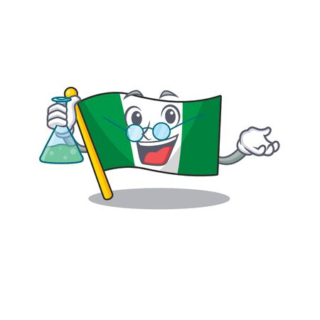 Professor flag nigeria isolated in the character vector illustration Illusztráció