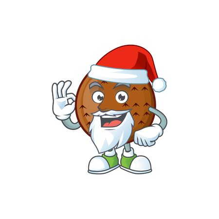 Santa salak fruit character on white background vector illustration