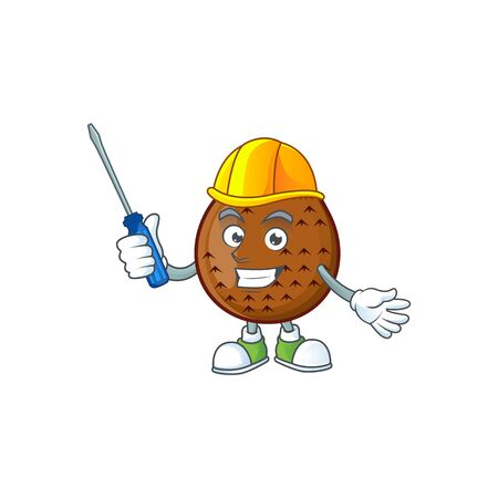 Automotive salak fruit character on white background vector illustration