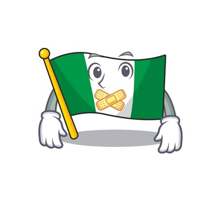 Silent nigeria flag folded in cartoon drawer vector illustration Stok Fotoğraf - 130074154