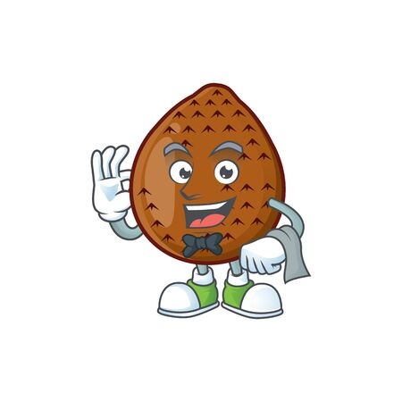 Waiter fresh salak mascot for food healthy