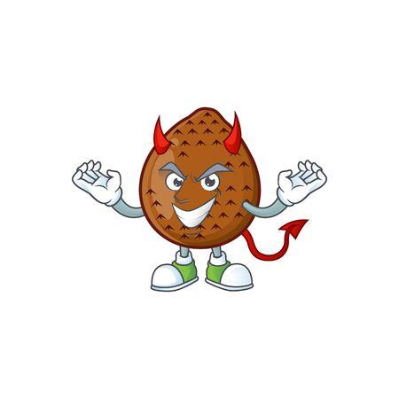 Devil fresh salak mascot for food healthy