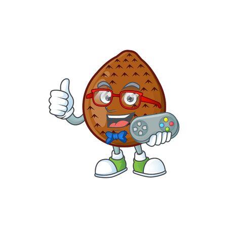 Gamer fresh salak mascot for food healthy