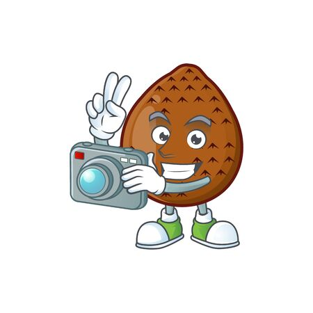 Photographer fresh salak mascot for food healthy