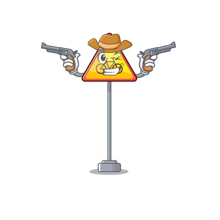 Cowboy no cycling isolated with the character vector illustration