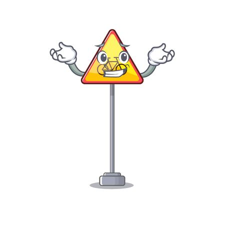 Grinning no cycling character shaped a mascot vector illustration Illusztráció