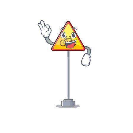 Okay no cycling character shaped a mascot vector illustration