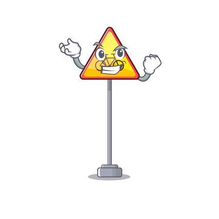 Successful no cycling character shaped a mascot vector illustration Иллюстрация