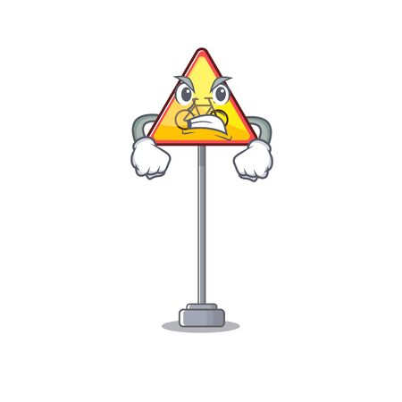 Angry toy no cycling characters on table vector illustration