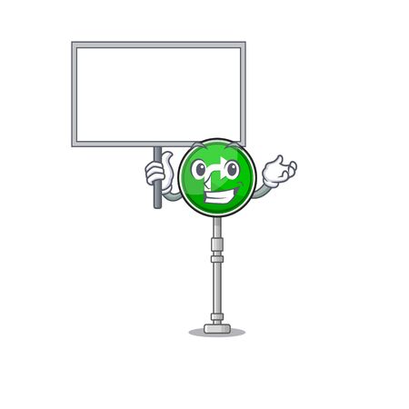 Bring board turn right isolated in the mascot vector illustration 일러스트