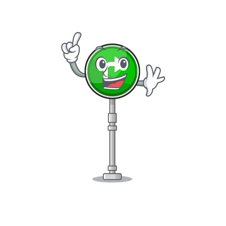 Finger toys turn character right on chair vector illustration