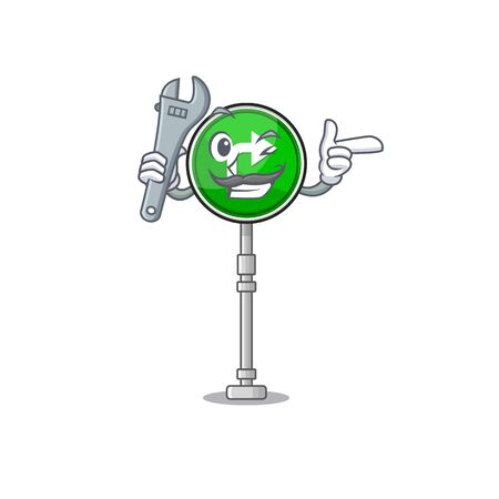 Mechanic toys turn character right on chair vector illustration