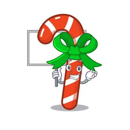 Bring board mascot candy cane in cartoon jars