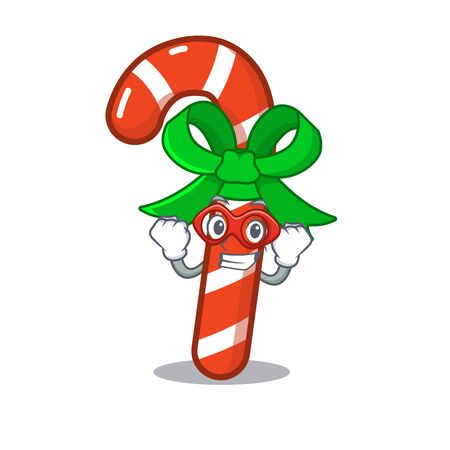 Super hero candy cane isolated in the character 向量圖像
