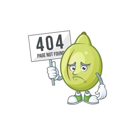 Pouting with bring board gubinge fruit cartoon for harvest symbol vector illustration