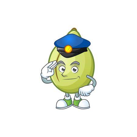 Police gubinge fruit cartoon for harvest symbol vector illustration Vectores