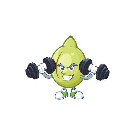 Fitness gubinge fruit cartoon for harvest symbol vector illustration