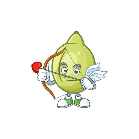 Cupid gubinge fruit cartoon for harvest symbol vector illustration