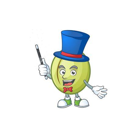 Magician fresh gubinge cartoon character mascot style. vector illustration