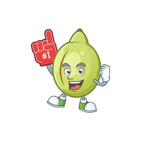 Foam finger fresh gubinge cartoon character mascot style. vector illustration Çizim