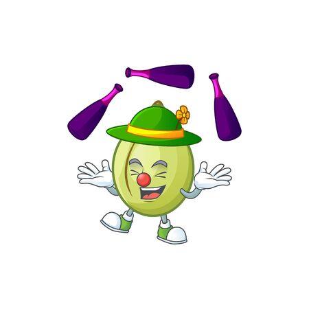 Juggling fresh gubinge cartoon character mascot style. vector illustration