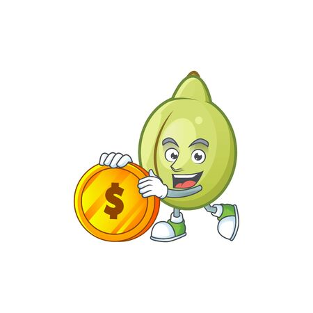 Bring coin fresh gubinge cartoon character mascot style. vector illustration Illusztráció