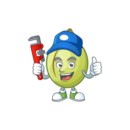 Plumber fresh gubinge cartoon character mascot style. vector illustration Illusztráció