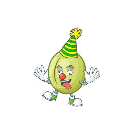 Clown fresh gubinge cartoon character mascot style. vector illustration