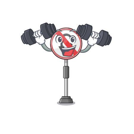 Fitness no u turn with a cartoon