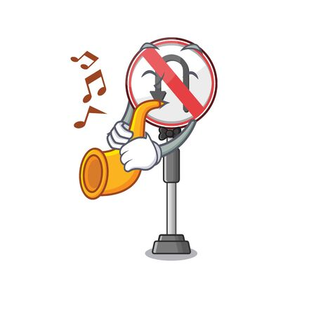 With trumpet no u turn isolated the mascot