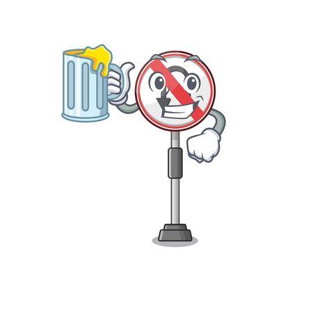 With juice no u turn isolated the mascot Ilustração