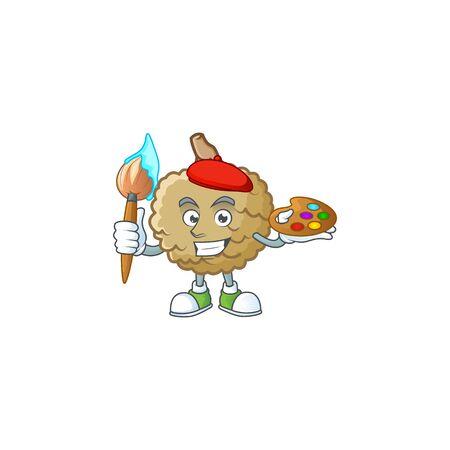 Painter sweet marolo fruit for design character vector illustration